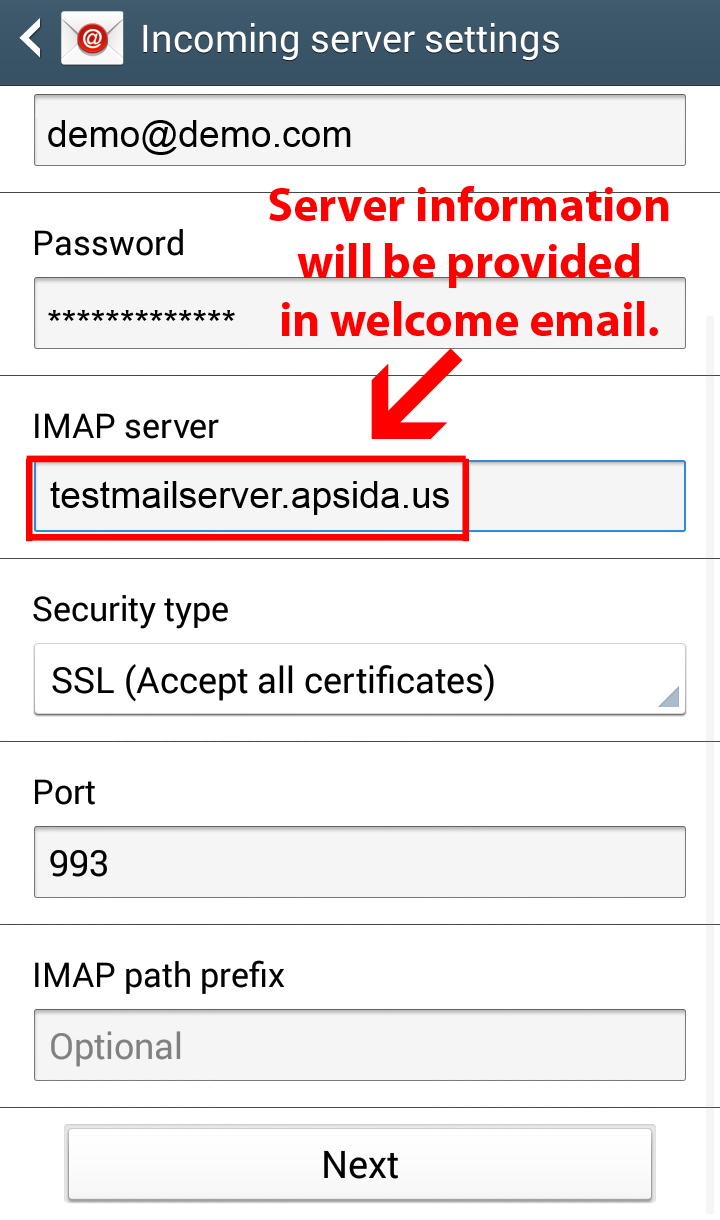 Configure Aspida Mail On Android Devices Knowledgebase Aspida